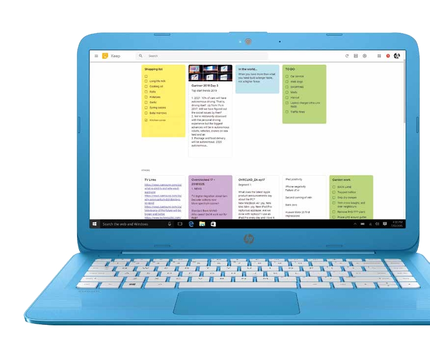 Smart sticky notes with Google Keep