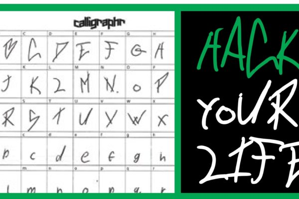 Create your own handwriting font
